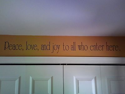 Peace Love And Joy    Wall Decal Removable Sticker Decor Quote Words Spiritual