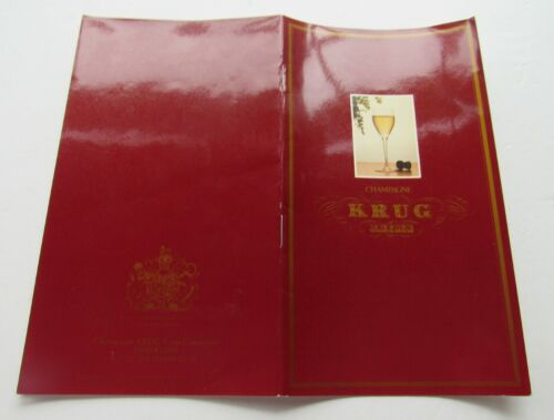 Booklet For Krug Reims Champagne History