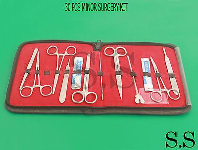 30 Pcs Minor Surgery Kit Surgical Instruments Forceps