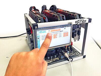 Shark Zcash Ethereum Bitcoin Mining Rig 120 MH 2000 h/s 4 GPU GTX1070 Ti Touch