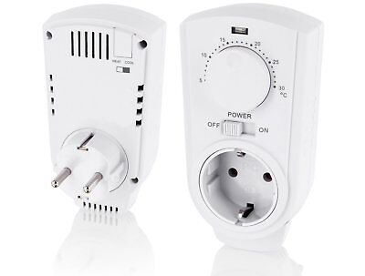 - Zwischenstecker mit Thermostat 230V Analog - Steckdose Raumthermostat Drehregler