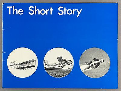 SHORTS MANUFACTURERS BROCHURE THE SHORT STORY - FLYING BOAT SKYVAN BELFAST