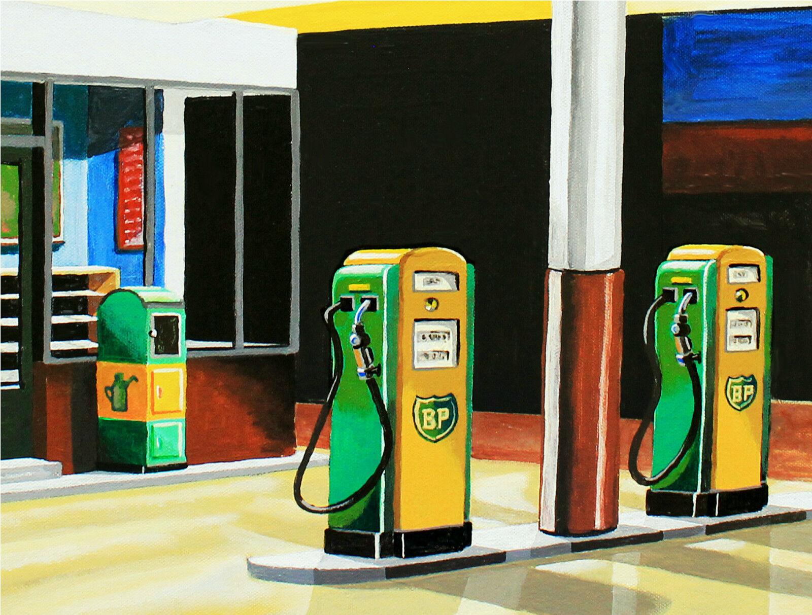 tankwart bp tankstelle kunstdruck benzin diesel oel zapfs ule coca cola automat eur 39 80. Black Bedroom Furniture Sets. Home Design Ideas
