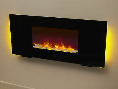 Be Modern   Solar wall mounted/free standing electric fire   Remote control