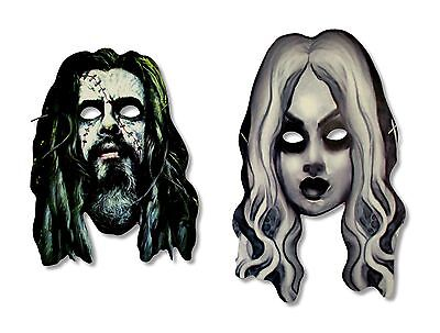 ROB ZOMBIE LIVING DEAD GIRL MASK SET OF 2 MASKS CARD STOCK OFFICIAL SHERI MOON](Girl Zombie Mask)