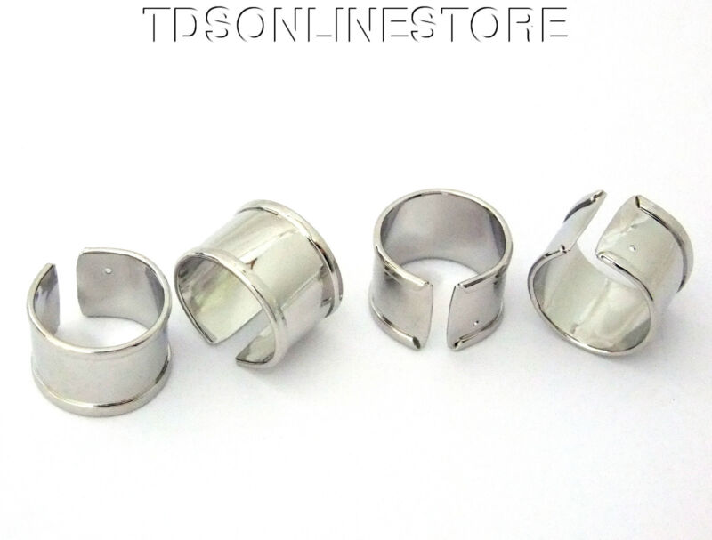 Silver Plated Ring Blanks Great For Wrapping Etc Package of 4
