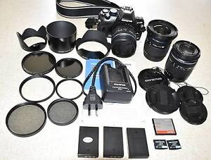 Olympus camera E420 body, 3 lenses and accessories Drouin Baw Baw Area Preview