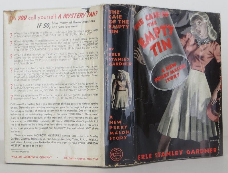 Erle Stanley Gardner The Case Of The Empty Tin Inscribed First Edition