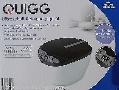QUIGG Ultraschall-Reinigungsgerät Digital-Timer 5 Laufzeiten mit Zubehör / NEU