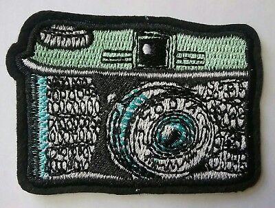 Retro Camera Iron-on Patch Vintage Old School Kodak Yashika 70's 80's Style Zoom