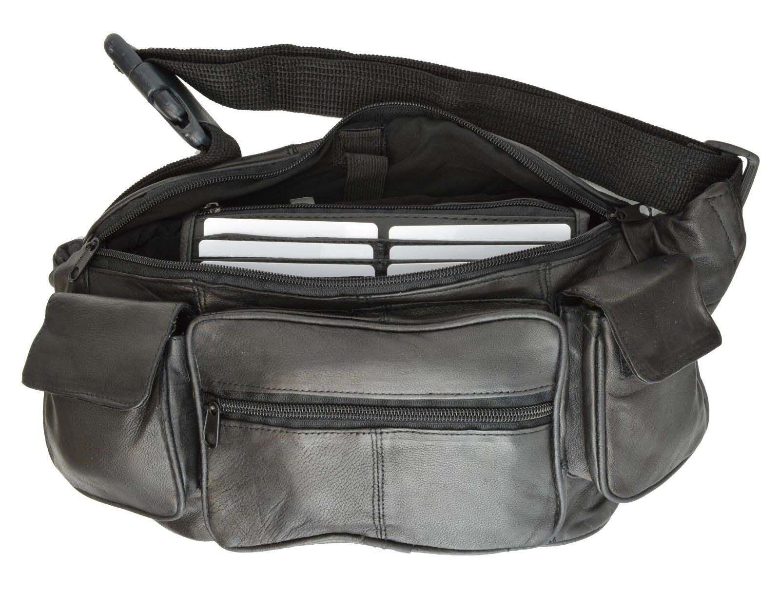 Leather Fanny Pack Belt Waist Pouch Hip Travel Purse Large M