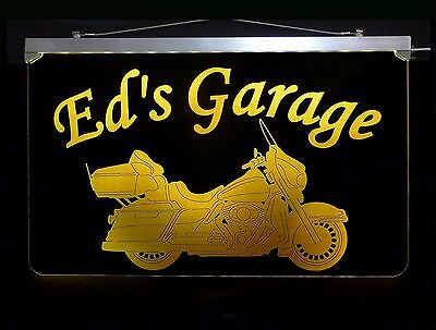 Motorcycle Personalized Led Sign  Man Cave  Garage  Harley Davidson