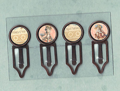 - Graphic45 GILDED LILY #109 Antique Copper (4) Paper Clips TRES CHIC