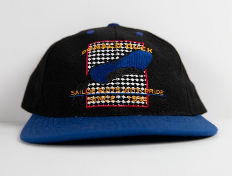 """Donald Duck Disney Vintage Hat """"Sailor Suits With Pride Since 1934"""" Rare"""