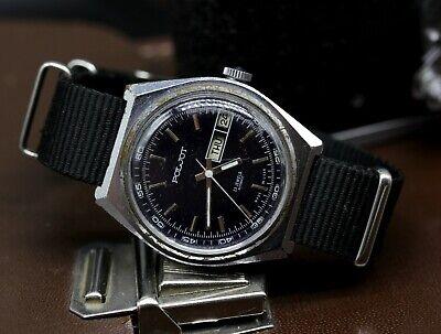 Vintage Unique Poljot 23 Jewels Mechanical Automatic USSR Soviet Dress Watch