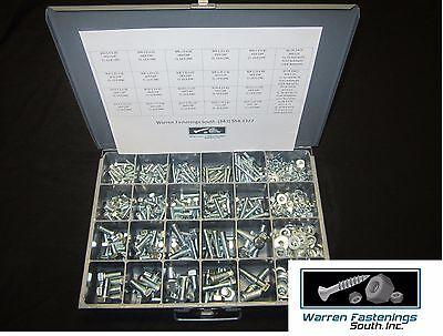 575 Pcs Metric 10 9 Hex Bolt Nut   Washer Assortment Zinc Plated