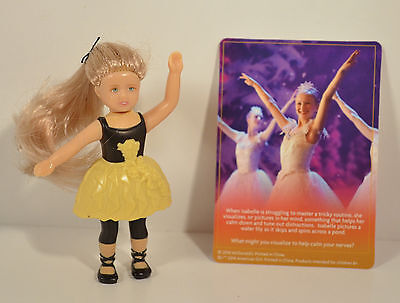 """Prepped to Perform Isabelle 3.5"""" Action Figure #3 McDonald's American Girl Doll"""