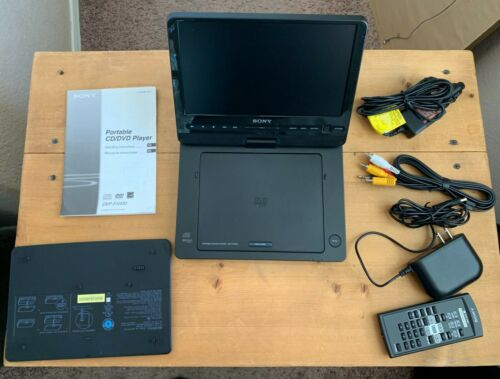 "Sony DVP-FX930 Portable DVD Player 9"" + DC/Car Power Supply & NP-FX110 Battery"