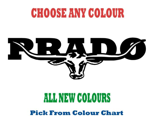 PRADO 580mm LONGHORN DECAL **CHOICE OF COLOURS** RM Williams STICKER TOYOTA