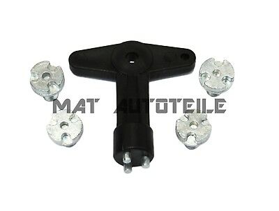 Felgenschloß Sicherungsschlüssel Felgendeckel Schlüssel Felgenschlüssel Opel NEU