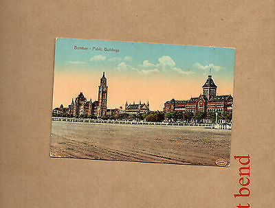India bombay Public Buildings A tinted card unposted .ao1