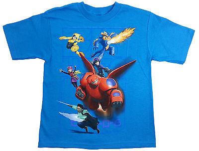 NWT Disney Big Hero 6 Character Tee Blue T-Shirt Boy Sizes 4, 5-6, 7 - Big Hero 6 Boy