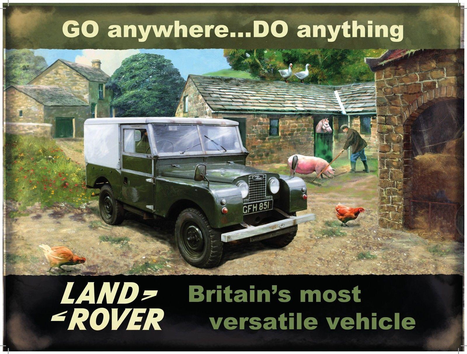 Range Rover small steel sign    200mm x 150mm og