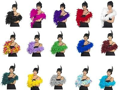 Women's Deluxe 80g Feather Boas The Great Gatsby Fancy Dress Hen Night Theme 20s - The Great Gatsby Themed Dresses
