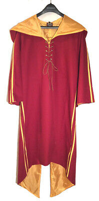 HARRY POTTER GRYFFINDOR QUIDDITCH GAMING ROBE CAPE COSPLAY NEW