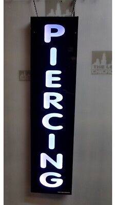 Piercing Signled Light Box Sign White Color 12x48x1.75 Inc