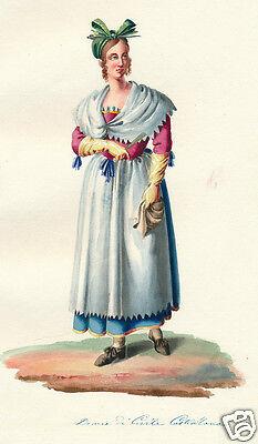 1840 Lazio Viterbo Civita Castellana Italy HC costume engraving