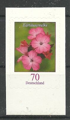 Nelke Blatt (BLUMEN-Karthäusernelke/ BRD MiNr 2716 ** SKL aus Folienblatt 8)