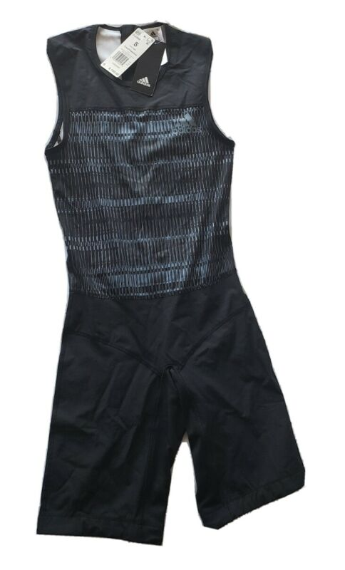 Adidas weighting lifting Crazy Power Suit men size small DJ2998 Black/ Raw steel