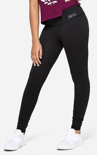 NWT Justice Girls Black High Waist Active Leggings!  Choose Size! 💕💕