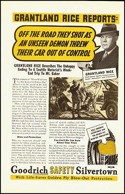 1937 Vintage ad for Goodrich Safety Silvertown Tires    (032212)