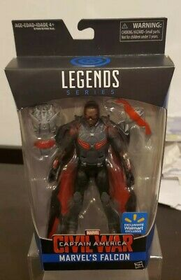 MARVEL LEGENDS FALCON CIVIL WAR.  WALMART EXCLUSIVE...NEVER OPENED