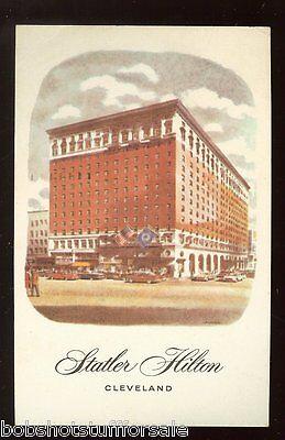 Statler Hilton Cleveland Ohio Carte Blanche 1965 US Coast Guard Can Postcard 777