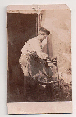 Vintage CDV Spanish Carpenter Traditional National Costume   (Carpenter Costume)