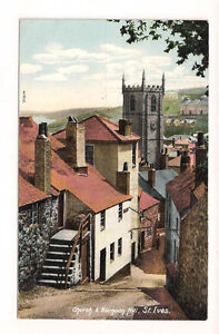 Vintage-Photo-Postcard-Church-Barnoon-Hill-St-Ives-Cornwall-Friths-0114