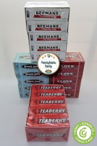 Gerrits 20 pack TEABERRY, BLACK JACK, CLOVE or BEEMANS Flavored Chewing Gum