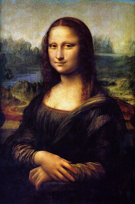 - Canvas Print Mona Lisa smile oil painting HD printed on canvas L084