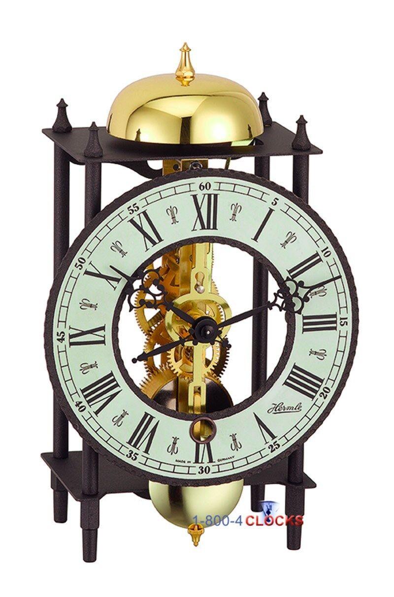 Hermle Bonn Skeleton Table Clock 33 Off Msrp 23001 000711 Ebay