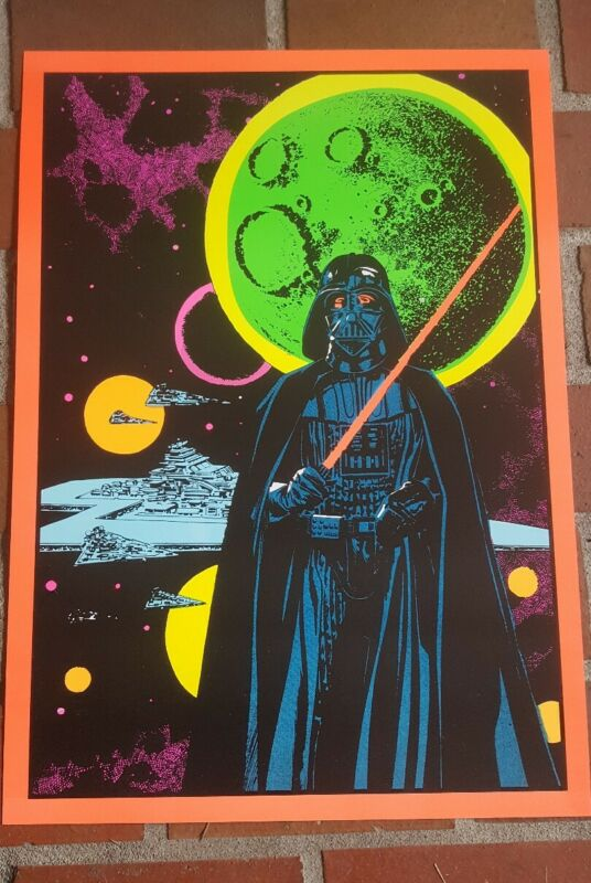Marvel Third Eye tribute poster Darth Vader Star Wars blacklight day glow Sith!