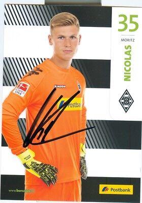 Moritz Nicolas - Original Autogramm 2017 - Mönchengladbach