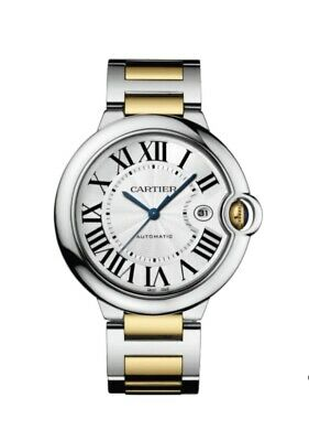 Cartier Ballon Bleu Watch 42mm Two-Tone Steel Yellow Gold With Box & Papers