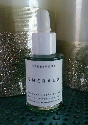 Herbivore Emerald Adaptogens Deep Moisture Glow Oil (0.34oz) Travel New