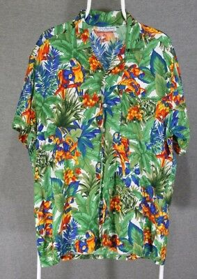 Bagshaws of St. Lucia West Indies Hawaiian Shirt - Mens Size 2XL - B1 image