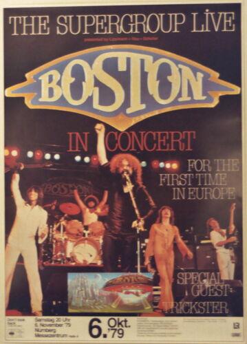 BOSTON CONCERT TOUR POSTER 1979 DON