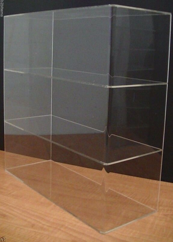 """DS-Acrylic Counter top Display Case 16"""" x 6"""" x 16"""" Show Case Cabinet Shelves"""