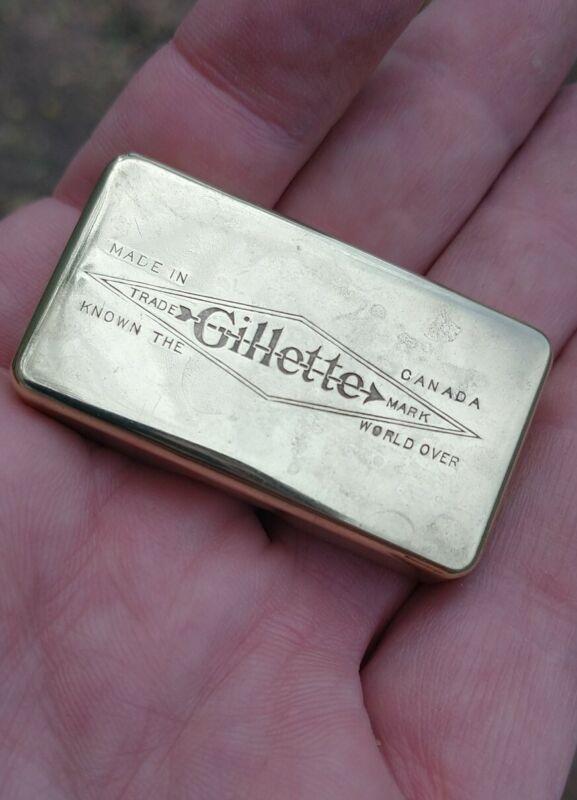 Vintage Gillette Razor Blade Bank/ Case Canadian Model